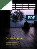 Aj Chah on Meditation