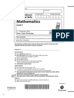 Paper Level-1-Mathematics-February-2018