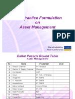 Best Practice Formulation TRUC 2009 - Asset Management