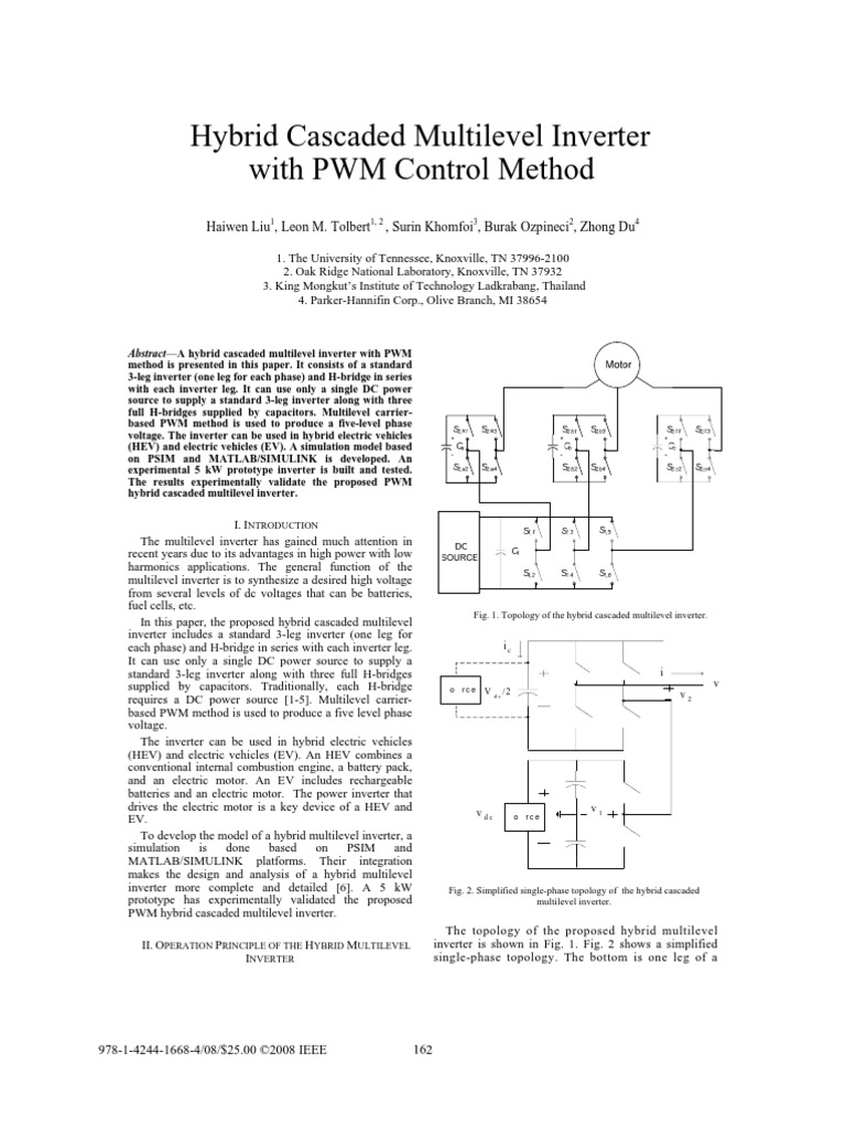 27166752 Hybrid Cascaded Multilevel Inverter With PWM Control