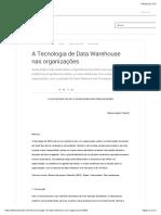 Estudo de caso - A Tecnologia de Data Warehouse nas organizações