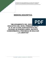 MEMORIA DESCRIPTIVA PERFIL PRIMARIA BUENOS AIRES
