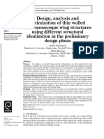 Design, analysis and optimization of thin walled semi-monocoque wing structures using different structural idealization in the preliminary design phase