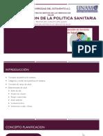 PLANIFICACION DE LA POLITICA SANITARIA
