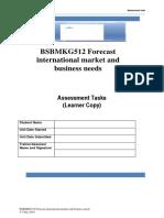 BSBMKG512 Forecast international market and business needs - AT
