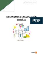 MECANISMOS DE NEGOCIACIÓN BURSÁTIL-TRABAJO FINAL