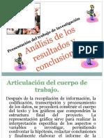 Unidad 3 Análisis de los resultados y conclusiones