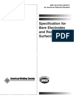 AWS A5.21-A5.21 M -2011 SPc for electrods & rodes for surfacing