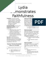 Lydia Demonstrates Faithfulness