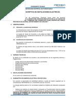 05. MEMORIA DESCRIPTIVA DE INSTALACIONES ELECTRICAS