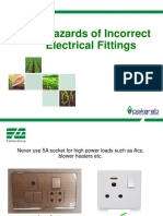 Hazards of Incorrect Electrical Fittings
