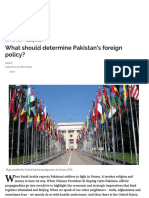 What should determine Pakistan's foreign policy_ - Herald
