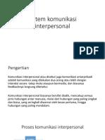 psikologi komunkasi (komunikasi interpersonal)