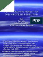 Permasalahan Penelitian Dan Hipotesis Penelitian