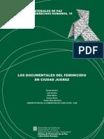 análisis documentales sobre feminicidios en Ciudad Juárez