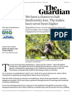 We have a chance to halt biodiversity loss. The stakes have never been higher | Environment | The Guardian
