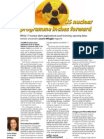 """US nuclear programme inches forward"" - The Chemical Engineer/TCE Today (UK)"