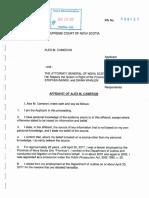 Sept. 20, 2017 - Affidavit of Alex Cameron