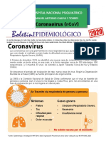 boletin epidemiologico coronavirus HNP