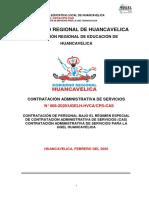 CONVOCATORIA CAS  N° 008 2020/UGELH-HVCA/CPS-CAS