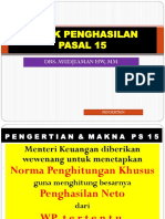 UP GRADE IAI PERBANAS PAJAK PENGHASILAN PASAL 15 2018