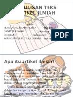 PENULISAN TEKS ARTIKEL ILMIAH RINDI