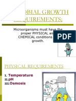 MICROBIAL-GROWTH-REQUIREMENTS  in Microbiology