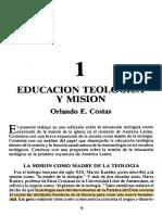 Educación Teológica y Misión - Orlando E. Costas