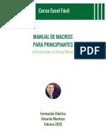 Manual de Macros para principiantes - Excel Fácil