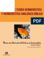 Apuntes de teoría hermenéutica - George Reyes