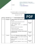 PLANIFICAREA ACTIVITĂȚILOR COMISIEI METODICE 2018.doc