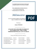 Analyse Non Linéaire Statique Et Dynamique Des Structures Tridimensionnelles Auto−Stables
