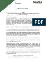 04-02-20  Es Sonora la primera entidad con todas sus dependencias certificadas en transparencia