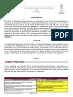 Convocatoria Admisión 2020-2021
