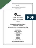 Metro Board of Directors agenda, Feb. 2020