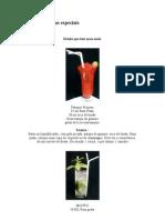 Drinks e Bebidas Especiais
