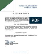 El PNP certifica a José Aníbal Meléndez Méndez como el nuevo alcalde de Fajardo