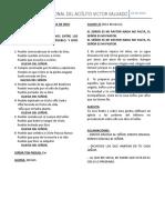 HOJA DE CANTOS DE LA ORDENACION DIACONAL DE VICTOR SALGADO (1)