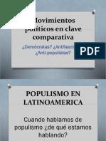 Movimientos políticos en clave comparativa Historia Comparada 2018 II