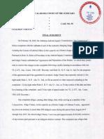 Kim Chaney Judgment