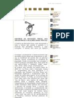 HISTÓRIA DA EDUCAÇÃO FÍSICA, SUA IMPORTÂNCIA E APLICABILIDADE PRÁTICA