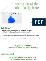Lab 3 Formula of a Hydrate SLIDES