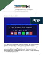 pinoybix.org-Forouzan MCQ in Error Detection and Correction