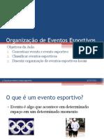 Organização de Eventos Esportivos