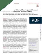 01.- Inverted regulation of multidrug efflux pumps, acid resitance, and porins in benzoate-evolved ecoli k-12