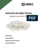Seminario de Inglés Técnico 2do Cuatrimestre 2019