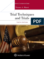 Trial Techniques and Trials [Mauet Trial Ad Book]