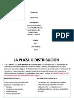 Trabajo de emprendimiento La plaza  o distubucion