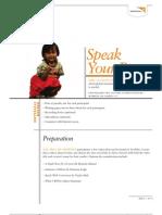Speak Your Peace -Activity