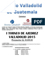 Ajedrez Guatemala 2015